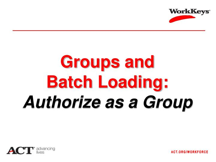 Groups and