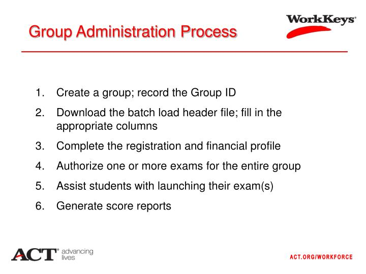 Group Administration Process