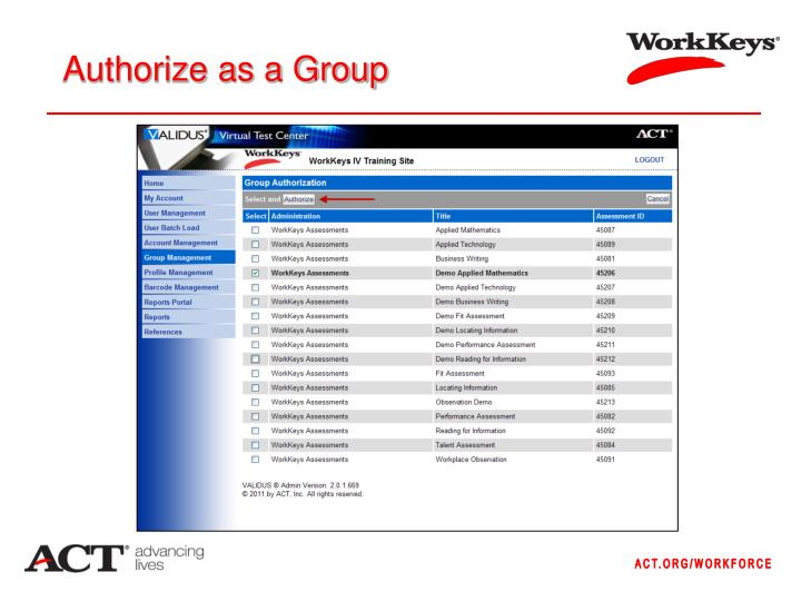 Authorize as a Group