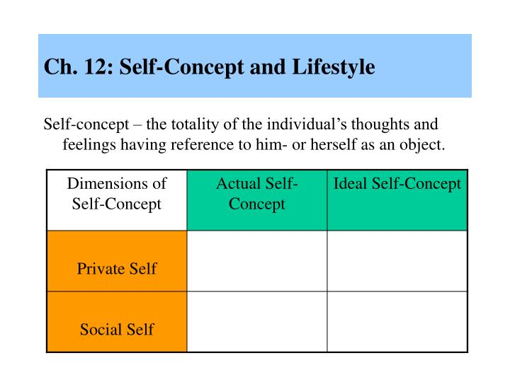 ch 12 self concept and lifestyle n.