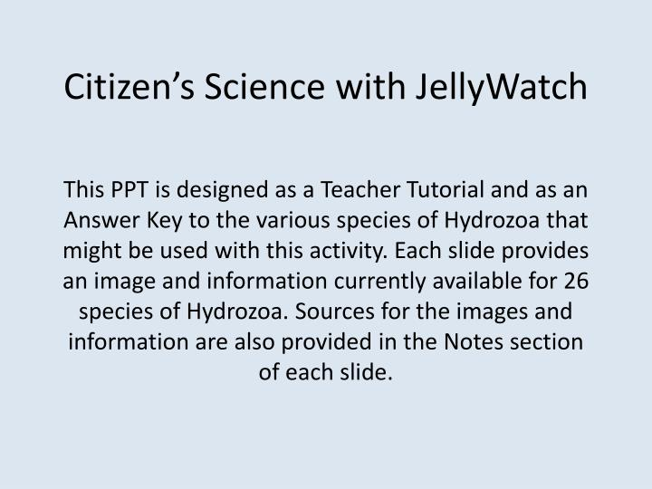 citizen s science with jellywatch n.
