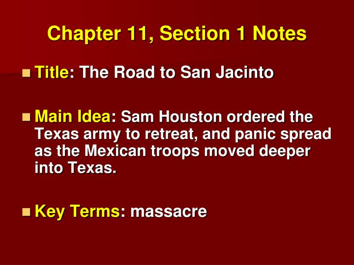 chapter 11 section 1 notes n.
