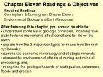 chapter eleven readings objectives