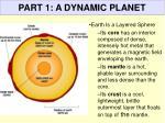 part 1 a dynamic planet