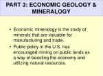 part 3 economic geology mineralogy
