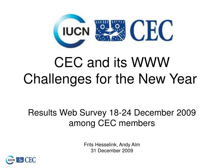 cec and its www challenges for the new year n.