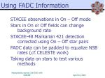 using fadc information