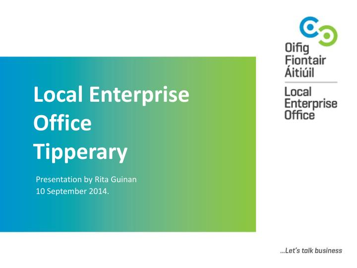 local enterprise office tipperary n.