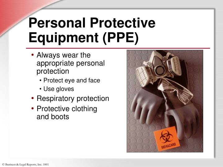 select and wear appropriate personal protective Conducting a job hazard assessment select and provide appropriate personal protective equipment for the employee wear and/or use appropriate personal.