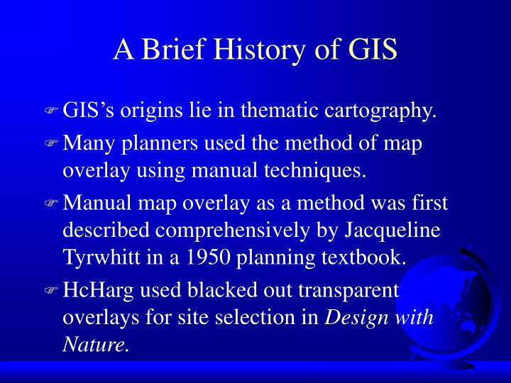 A Brief History of GIS