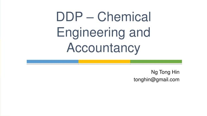 ddp chemical engineering and accountancy n.