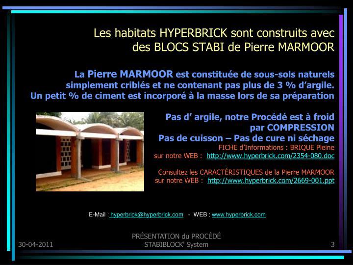 Les habitats HYPERBRICK sont construits avec