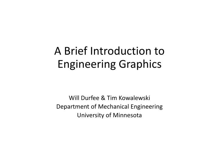 a brief introduction to engineering graphics n.