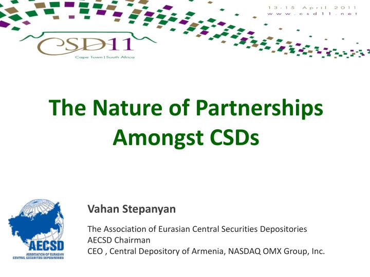 the nature of partnerships amongst csds n.