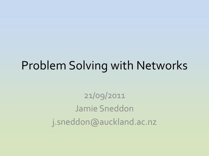problem solving with networks n.