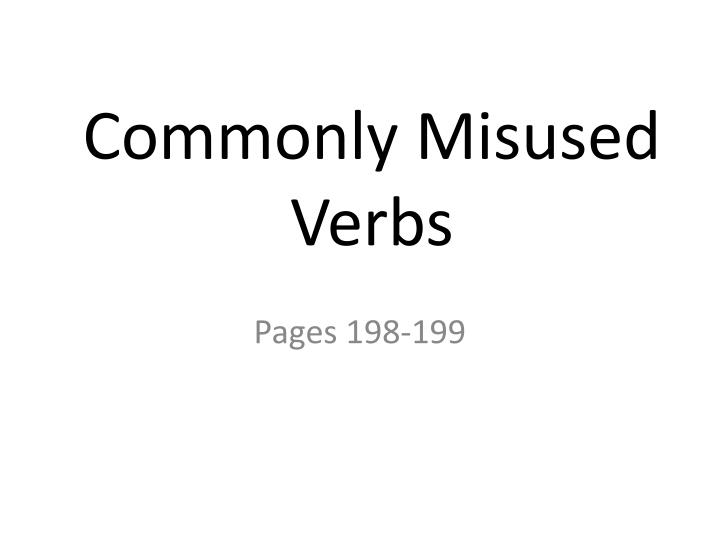 commonly misused verbs n.