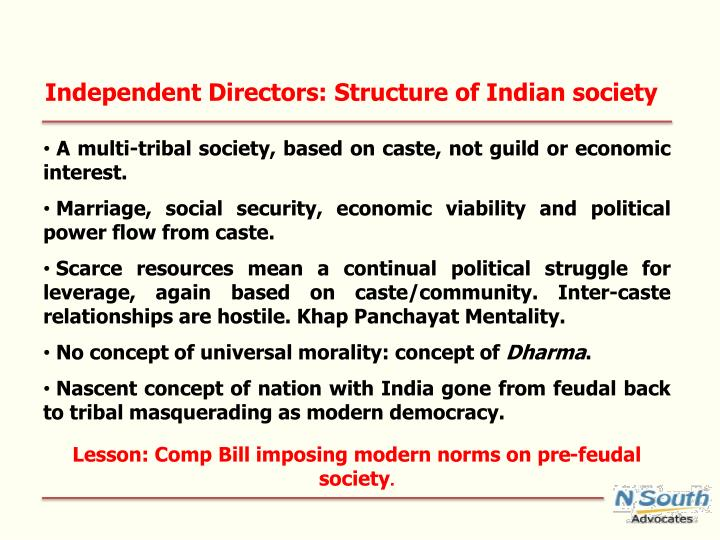 Independent Directors: Structure of Indian society