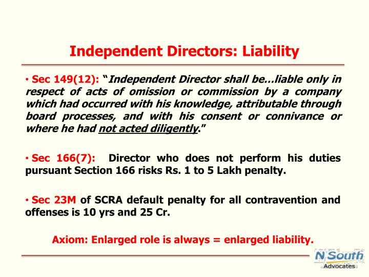 Independent Directors: Liability