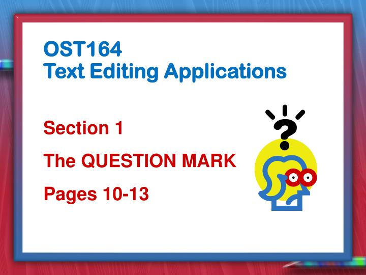 section 1 the question mark pages 10 13 n.