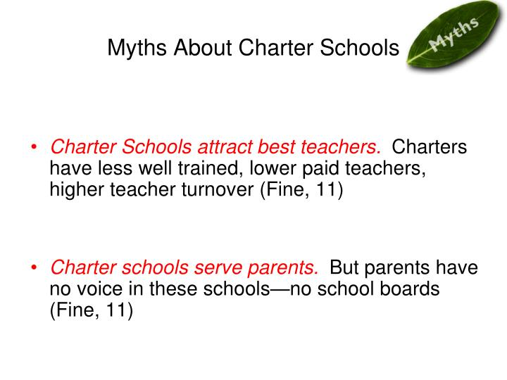 Myths About Charter Schools