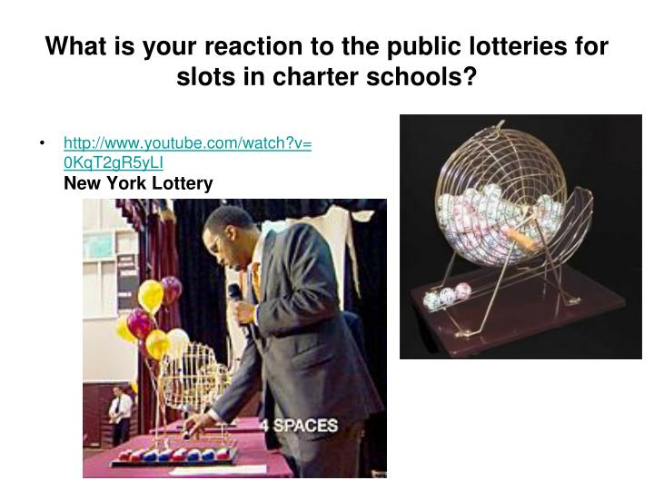 What is your reaction to the public lotteries for slots in charter schools?