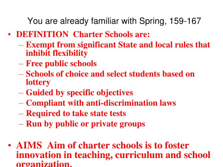 You are already familiar with spring 159 167
