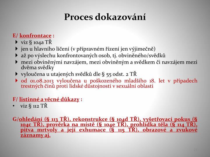 Proces dokazování