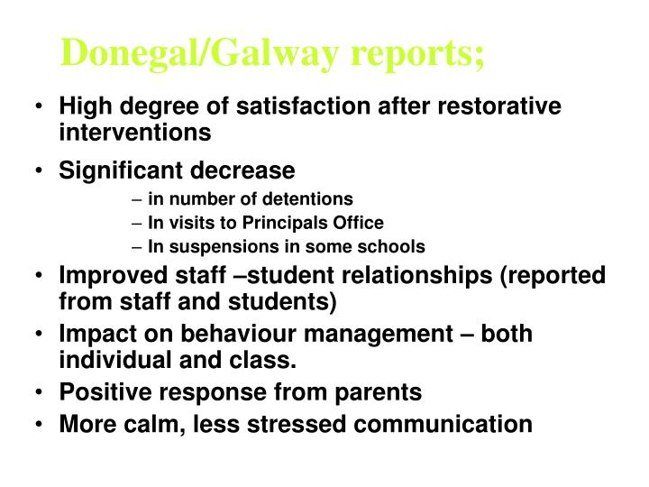 Donegal/Galway reports;