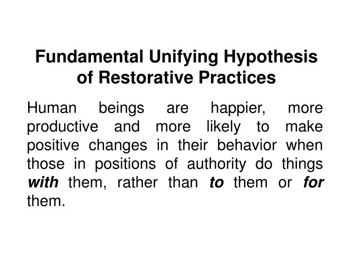 Fundamental Unifying Hypothesis