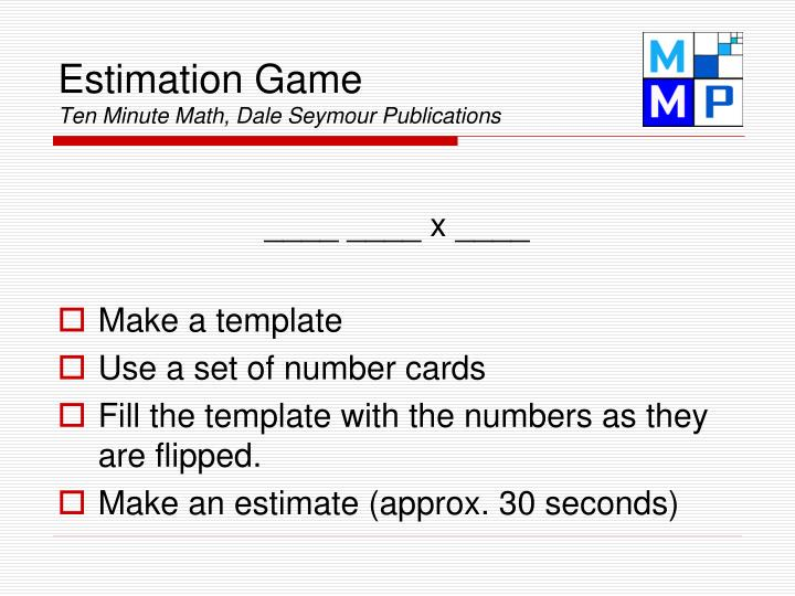 Estimation Game