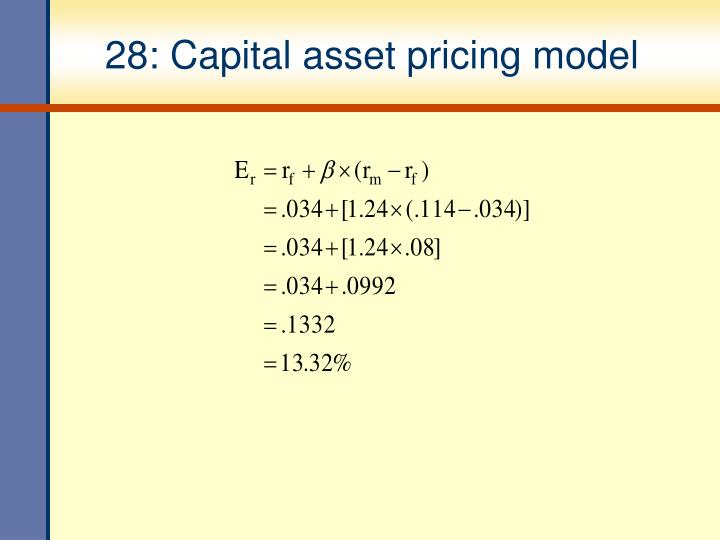 28: Capital asset pricing model