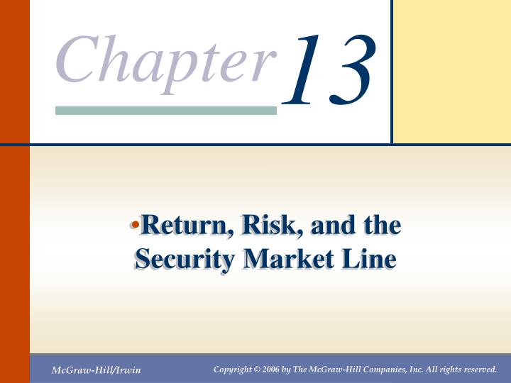 PPT Return Risk And The Security Market Line PowerPoint