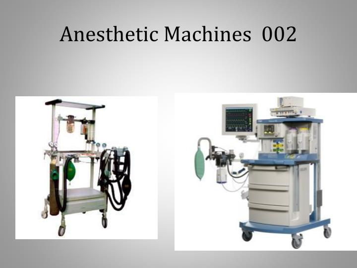 Anesthetic machines 002