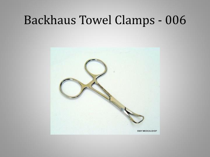 Backhaus Towel Clamps - 006
