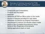 overview of common concerns for fy09 us 111 national phase 371 applications
