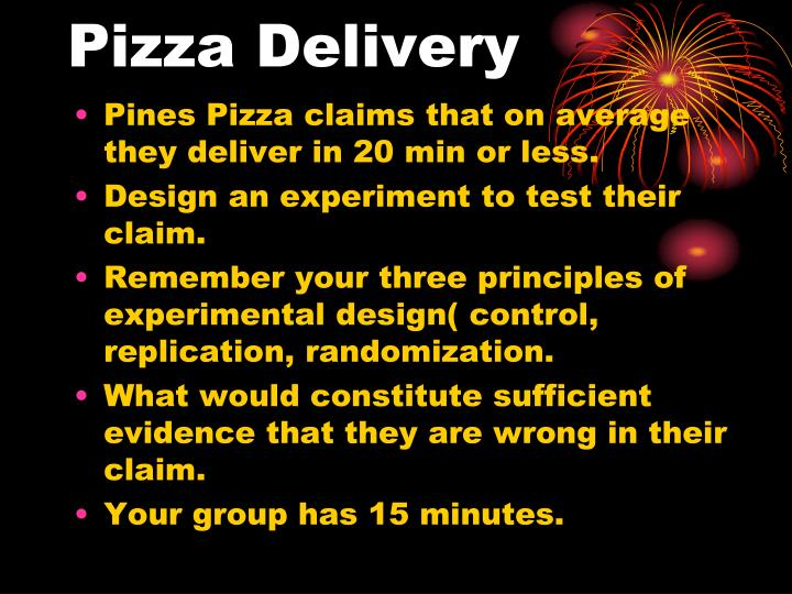 pizza delivery n.