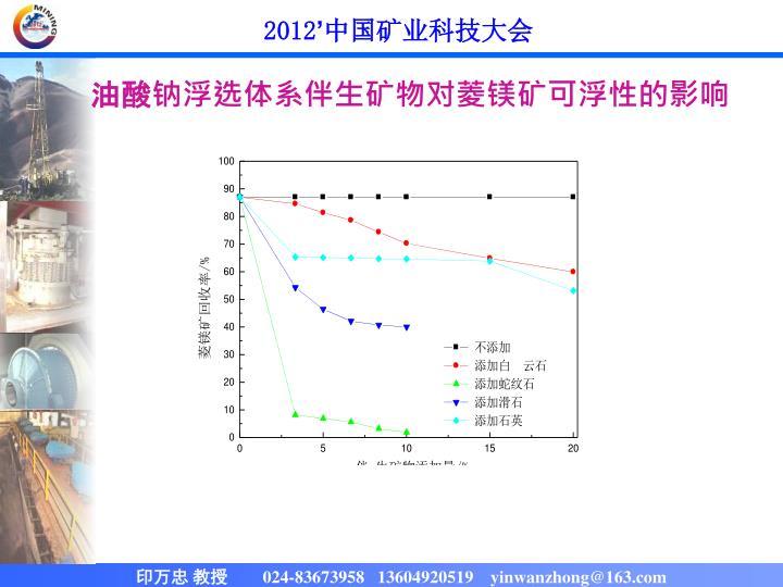 油酸钠浮选体系伴生矿物对菱镁矿可浮性的影响