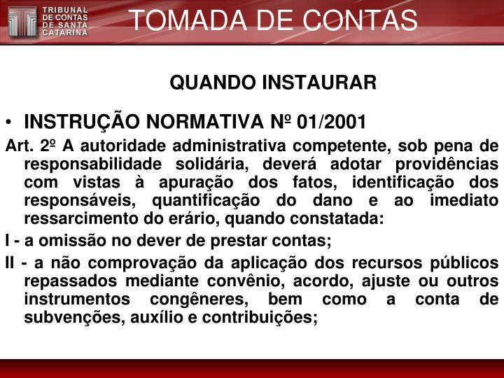 TOMADA DE CONTAS