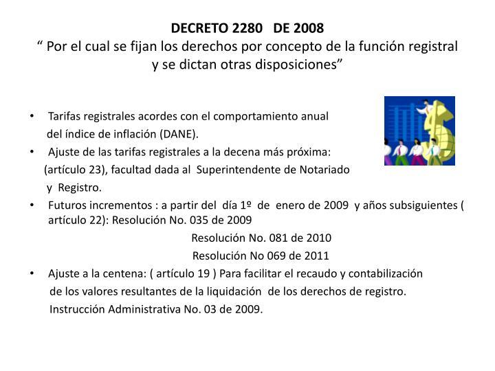 DECRETO 2280   DE 2008