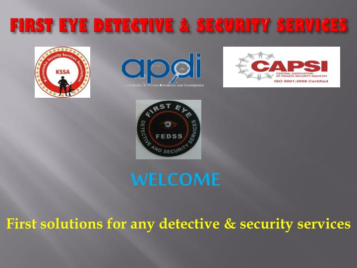 first eye detective security services n.