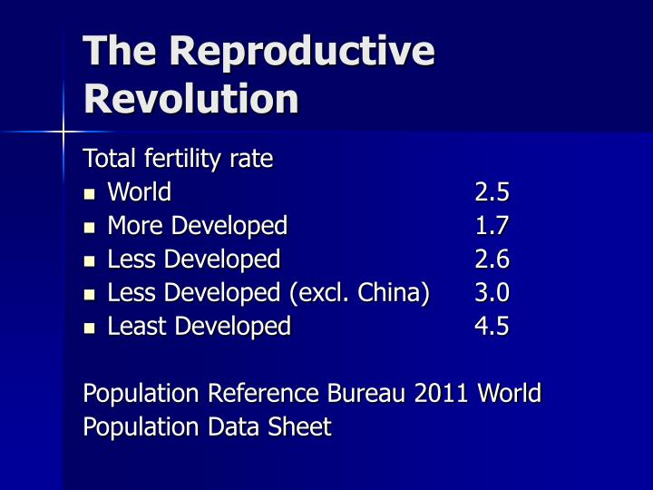 The Reproductive Revolution