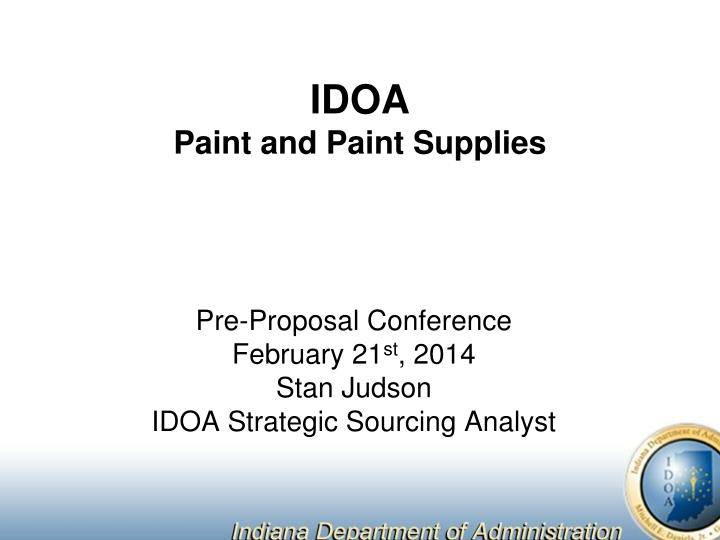idoa paint and paint supplies n.