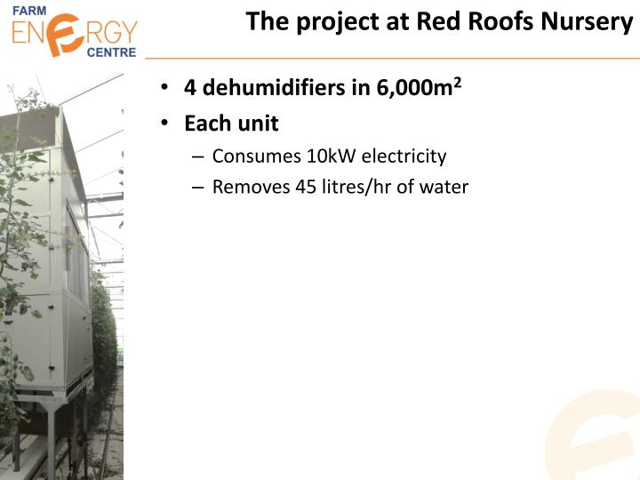 The project at Red Roofs Nursery