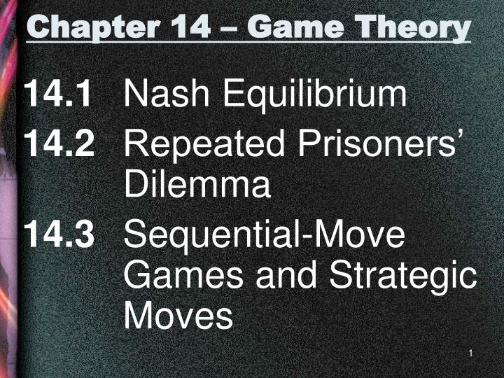 chapter 14 game theory n.