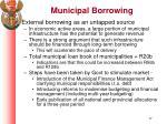 municipal borrowing