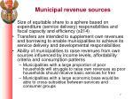 municipal revenue sources