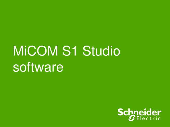 micom s1 studio software n.