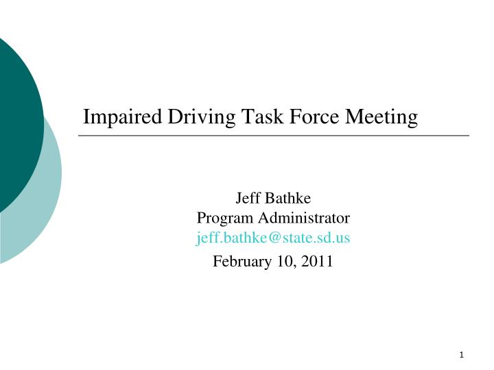 impaired driving task force meeting n.