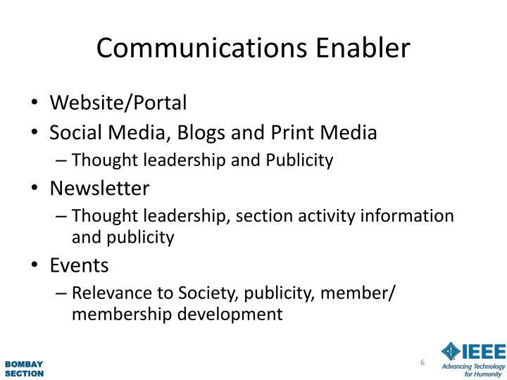 Communications Enabler