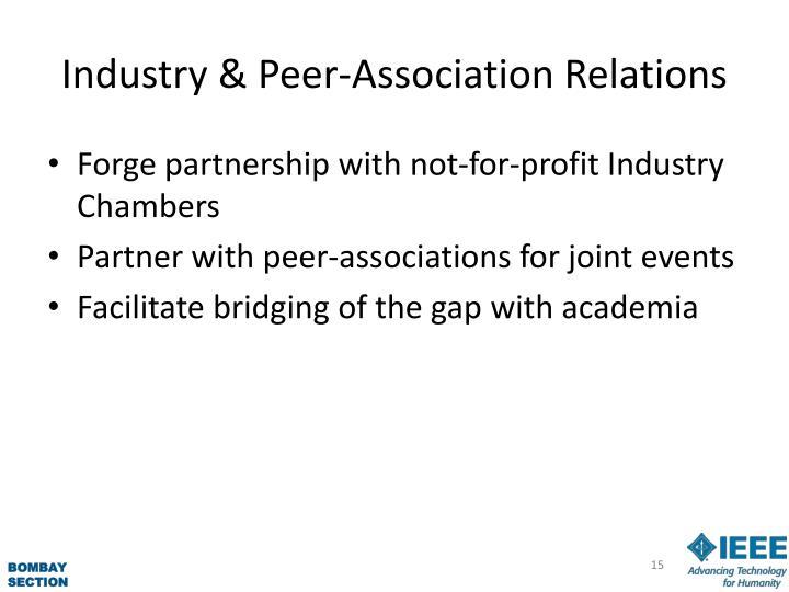 Industry & Peer-Association Relations